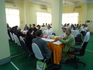 Business session in Yangon